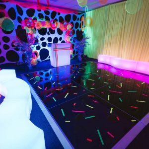 Dance Floor Setup Hire for glowing theme