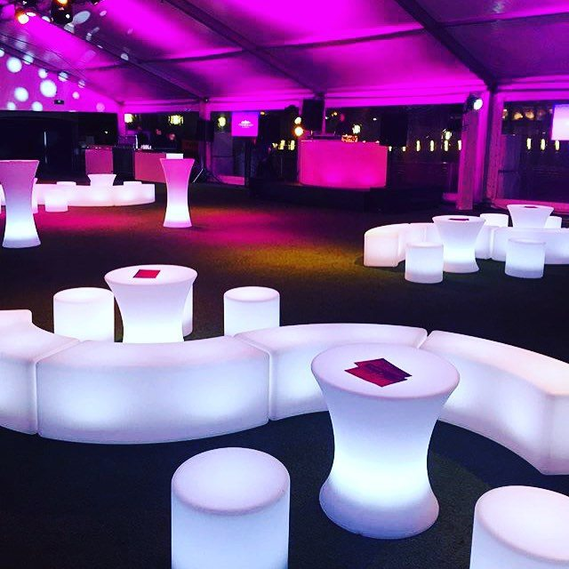 LED Small Bar Table | Feel Good Events | Melbourne