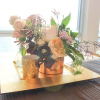 Gold Charger Plate Hire Melbourne with Gold Candle Holders