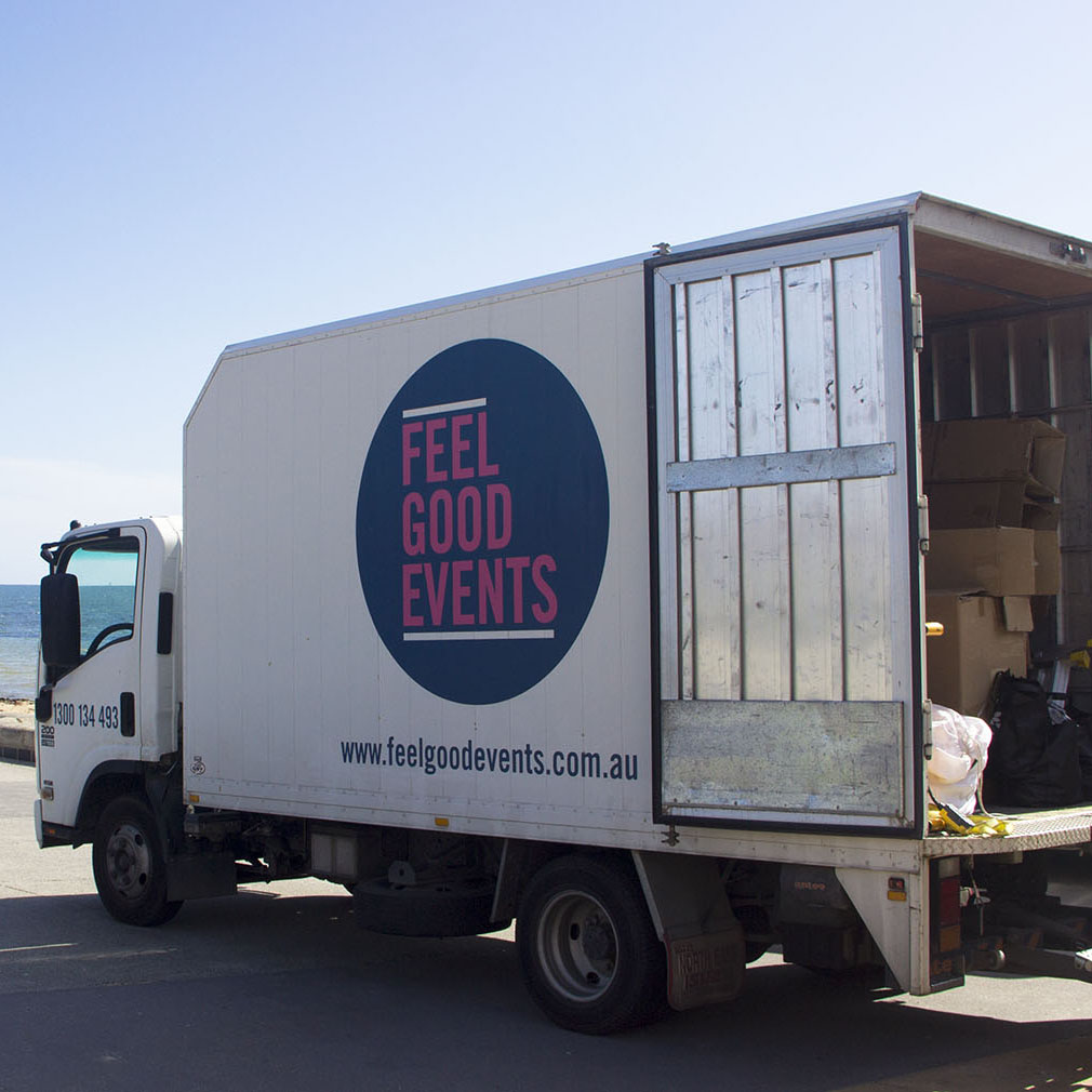 Feel Good Events Delivery & Setup Party Hire Truck Melbourne