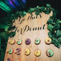 vines covered donut wall hire melbourne with donuts