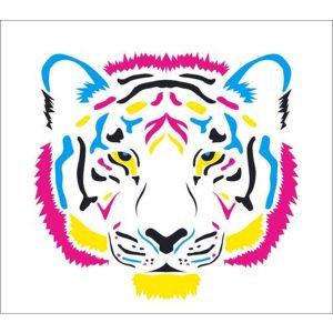 Standard Coloured Tiger Backdrop Hire Melbourne