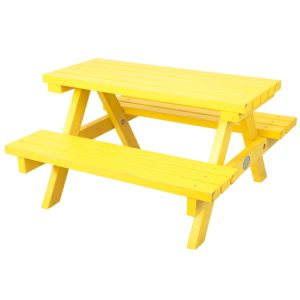 Kids-Picnic-Table-Yellow-Back-Hire-Melbourne