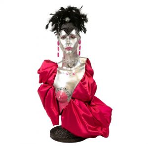 Mannequin-Pink-Black-Feathers-Style2-Hire-Melbourne-Feel-Good-Events