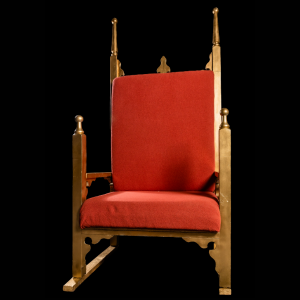 red Christmas throne